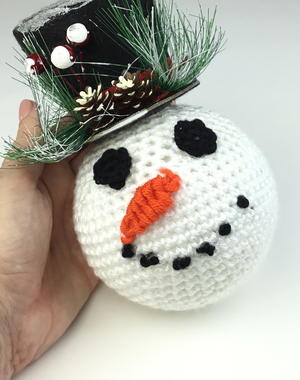 Snowman Ornament with Top Hat