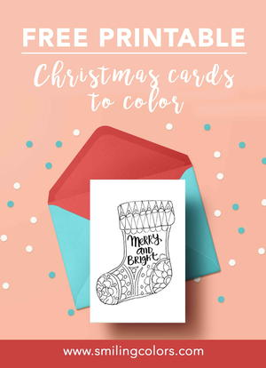Printable Christmas Cards To Color.Printable Christmas Cards To Color Favecrafts Com