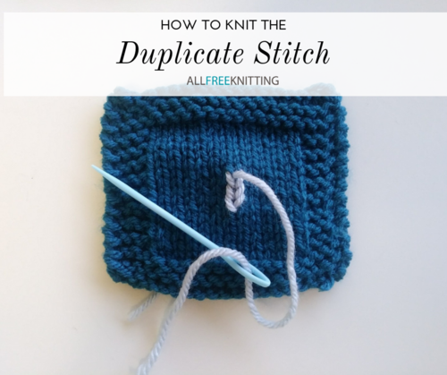 How to Knit the Duplicate Stitch
