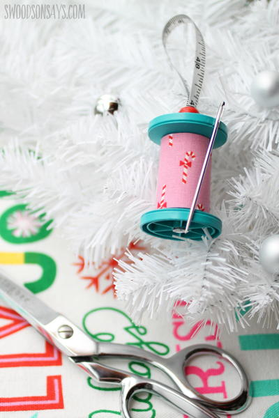 Upcycled Thread Spool Ornament
