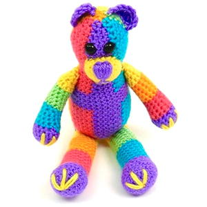 Groovy Rainbow Teddy Bear