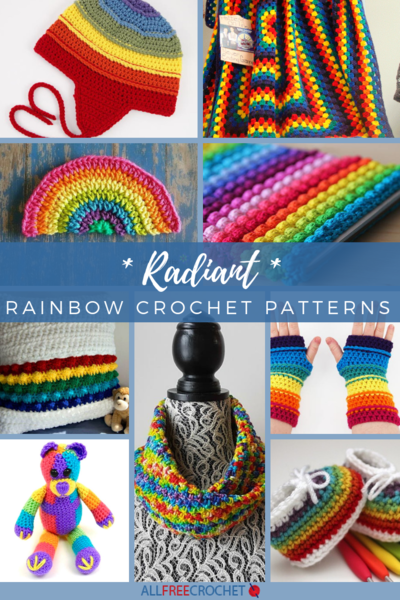 17 Radiant Rainbow Crochet Patterns