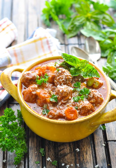 Slow Cooker Italian Meatball Stew