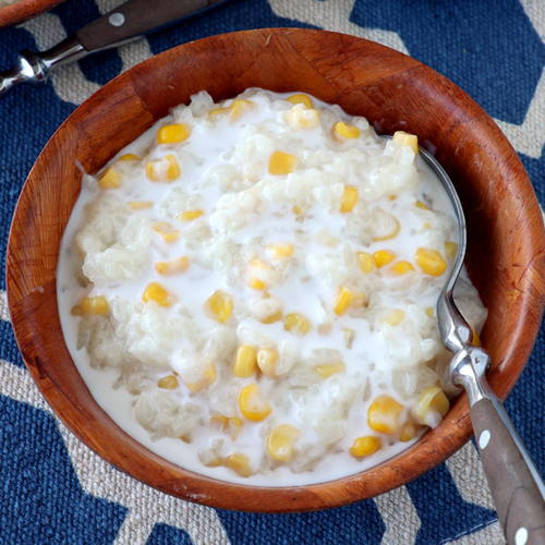 Ginataang Mais (Coconut Milk Rice Pudding with Corn ...