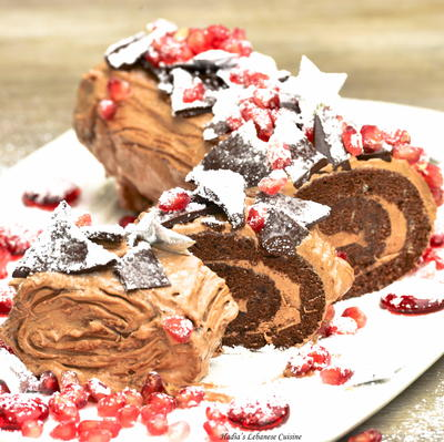 Chocolate Log Cake