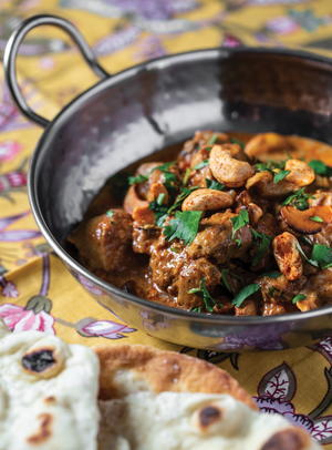 Butter Chicken with Spiced Cashews