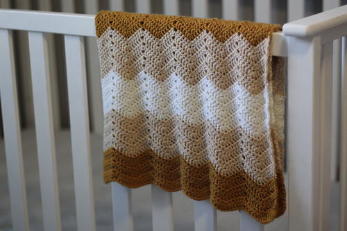 Wave Stitch Baby Blanket