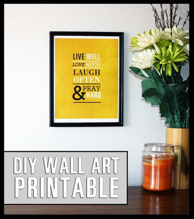 Printable DIY Inspirational Wall Art