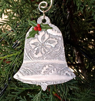 Clay Christmas Bell Ornament