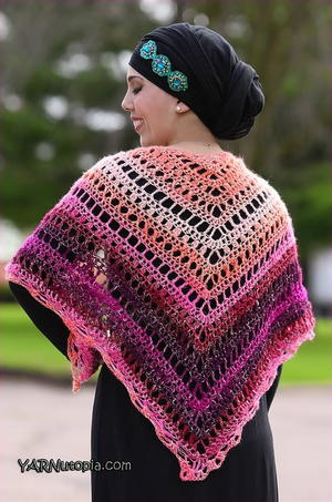 Breezy and Colorful Summer Shawl