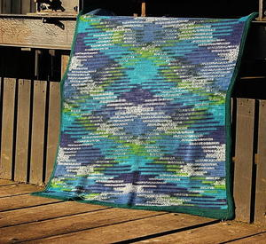 Ice Waves Argyle Crochet Blanket
