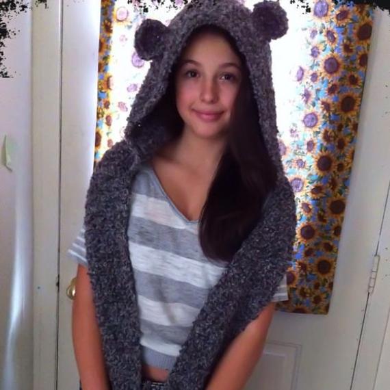 Snow Bear Hooded Scarf
