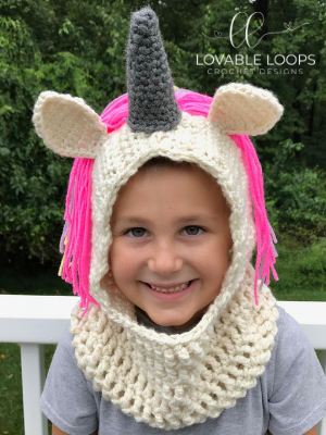 Unicorn Hooded Cowl