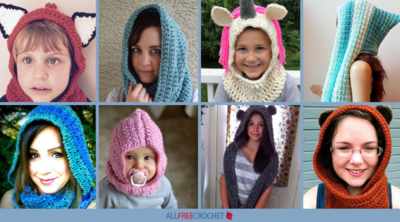 40+ Free Crochet Hooded Scarf Patterns