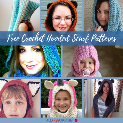 20 Free Crochet Hooded Scarf Patterns Allfreecrochet Com