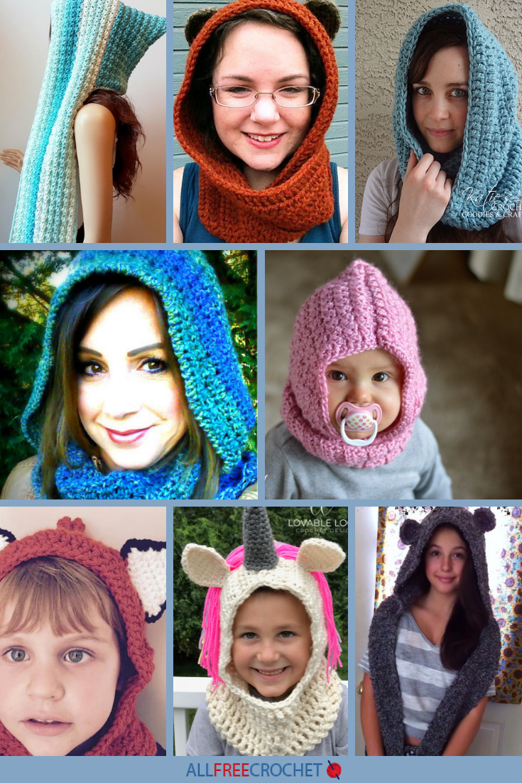 7d836e9cab60 20+ Free Crochet Hooded Scarf Patterns