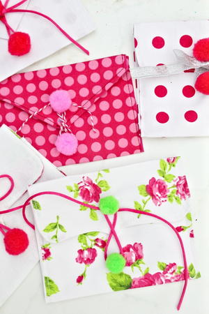 Valentine Fabric Envelopes