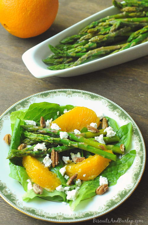 Salad with Marinated Asparagus & Oranges