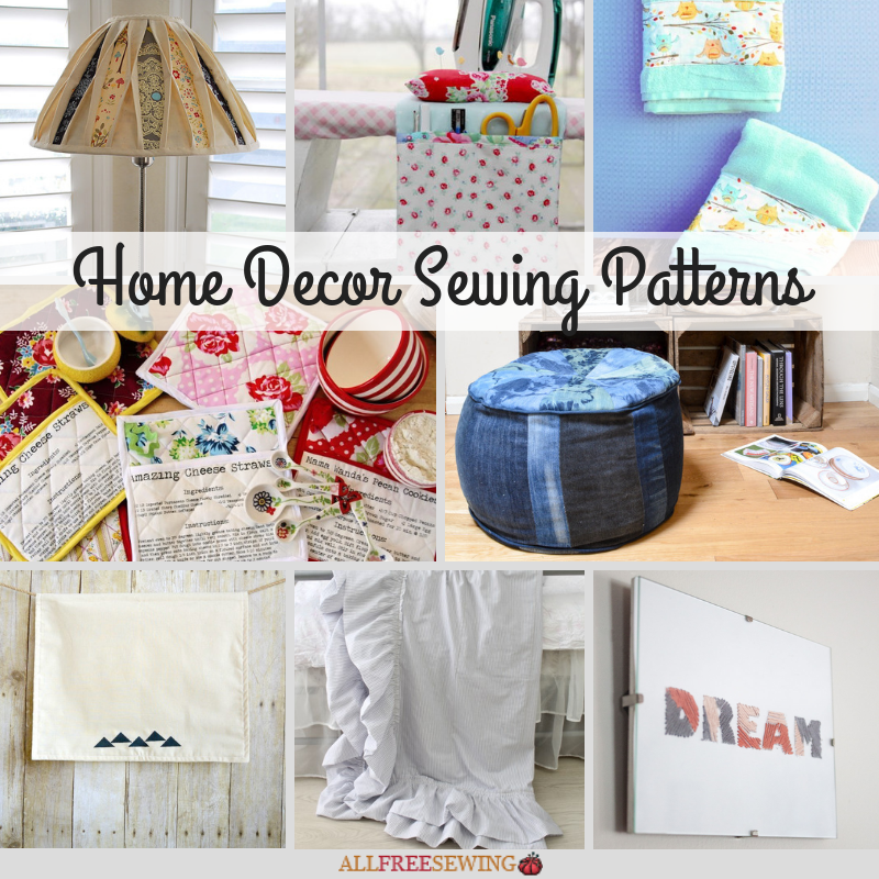 30+ Home Decor Sewing Patterns (Free)