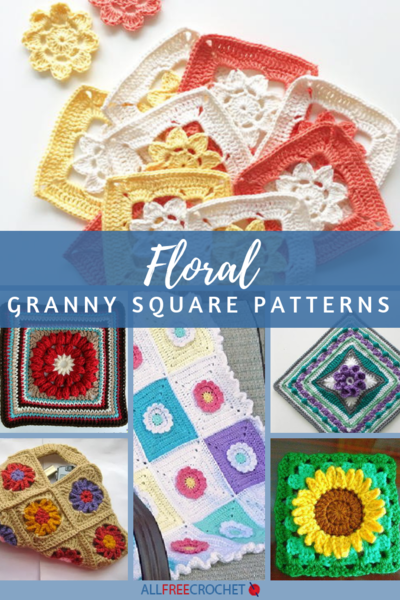 photograph relating to Free Printable Crochet Granny Square Patterns identified as 18 Floral Granny Sq. Designs