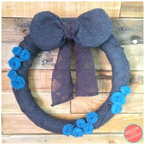 Upcycled Sweater into Cozy Winter Wreath