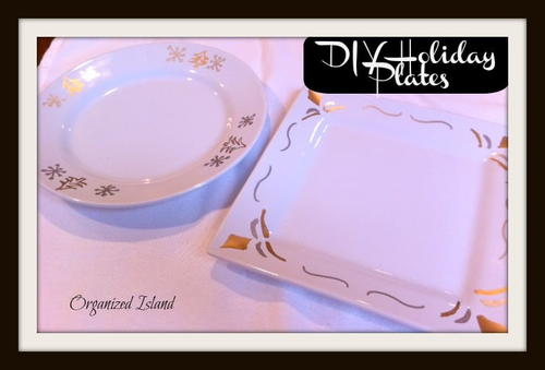 DIY Holiday Plates