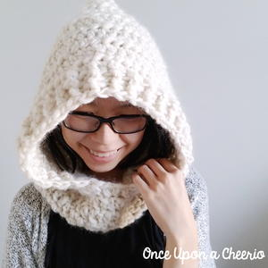 Through Thick and Thin Hooded Scarf