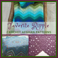 30+ Favorite Ripple Crochet Afghan Patterns