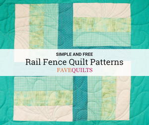 21 Free Rail Fence Quilt Patterns
