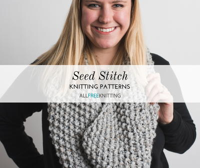 37e37392198f 23 Seed Stitch Knitting Patterns. Create beautiful cowls