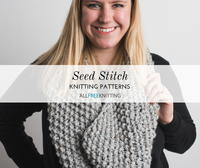 23 Seed Stitch Knitting Patterns