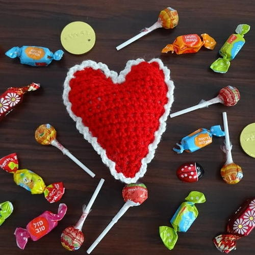 Crochet Heart Decoration or Pin Cushion