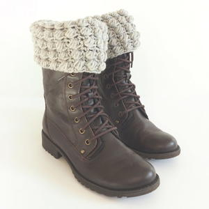 Bobble Stitch Boot Cuff Crochet Pattern