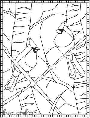 Winter Cardinal Coloring Page
