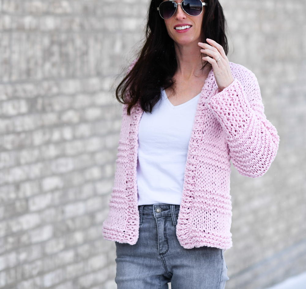 Cotton Candy Easy Cardigan Allfreeknitting Com