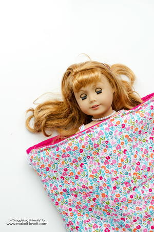 AG-Inspired Doll Sleeping Bag