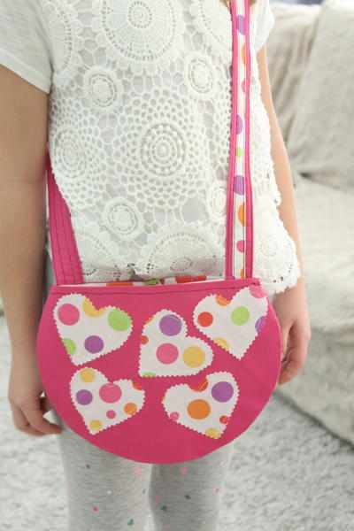 Round Cross Body Bag Pattern for Girls