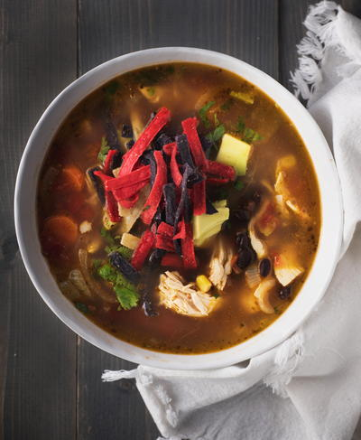Chick-fil-A Chicken Tortilla Soup Recipe in a Slow Cooker
