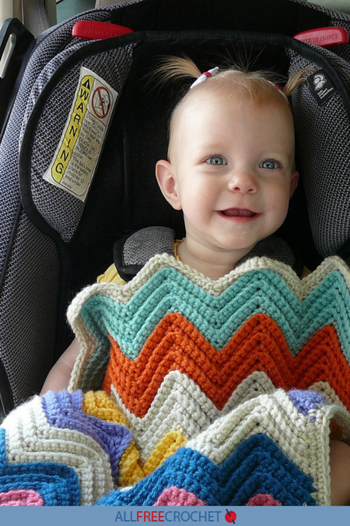 Moms Favorite Chevron Crochet Baby Blanket