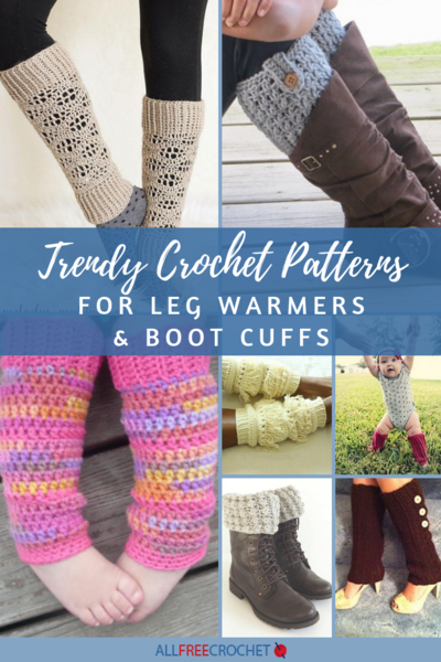 22 Trendy Crochet Patterns For Leg Warmers Boot Cuffs
