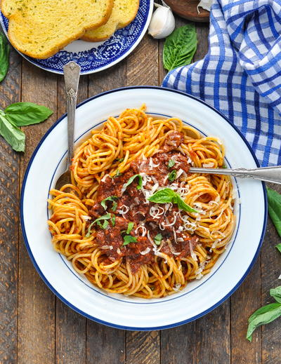 Spaghetti Meat Sauce {Slow Cooker or Stovetop}