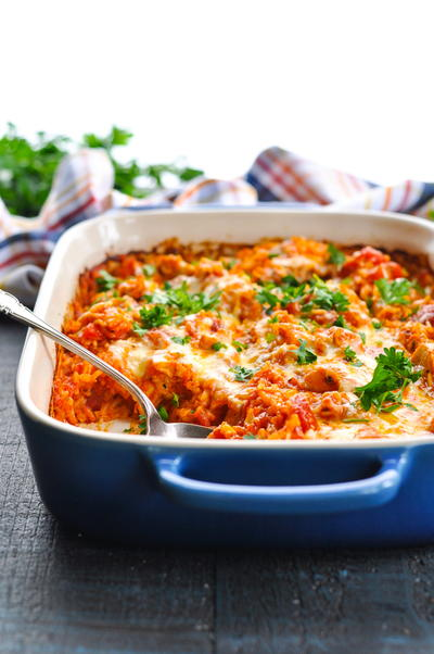 Dump-and-Bake Italian Chicken and Rice
