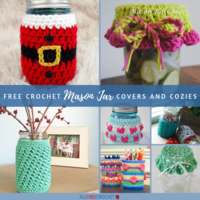 16+ Free Crochet Mason Jar Covers and Cozies