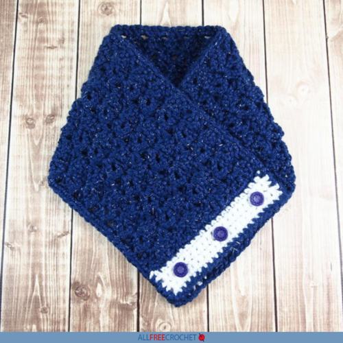 Celestial Crochet Button Cowl