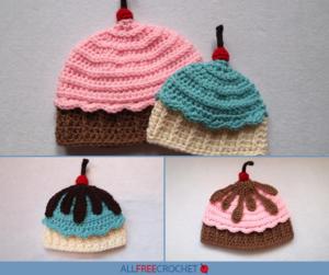 ac08fcc1014 Ice Cream Cupcake Crochet Hat (Free Pattern)