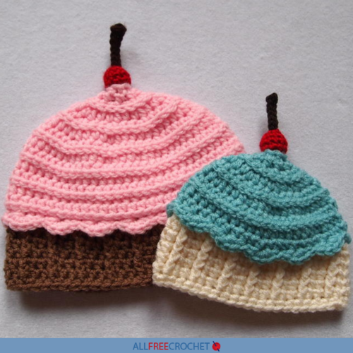 Ice Cream Cupcake Crochet Hat Free Pattern Allfreecrochetcom