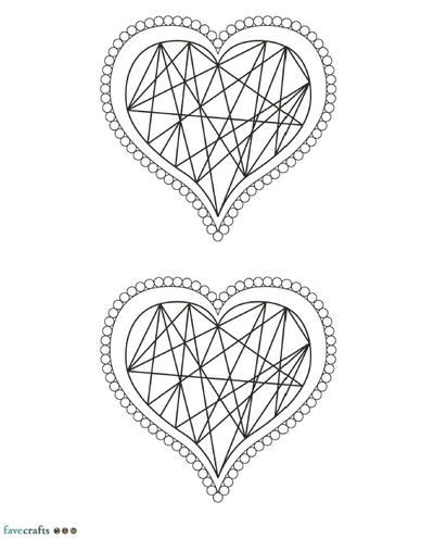 Hip Hearts Coloring Page