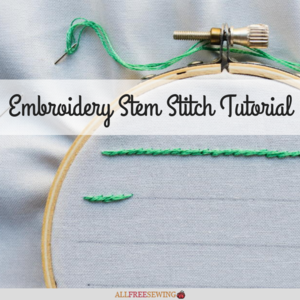 Embroidery Stem Stitch Tutorial
