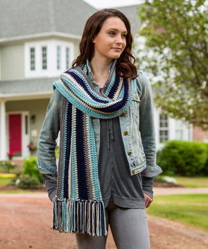 Beginner Striped Scarf Crochet Pattern