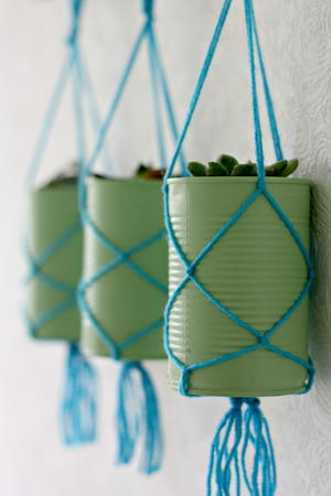 Tin Can DIY Hanging Planters